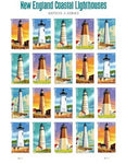 New England Coastal Lighthouses Sheet Of 20 U.S. Postage Forever Stamps