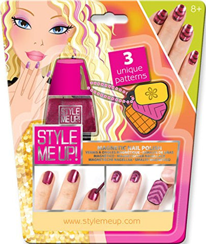 Style Me Up - Manicure Set For Girls - Girls Nail Polish Sets For Kids - Pink Magnetic Nail Varnish - Nail Art Stamping Kit For Kids - Smu-1656