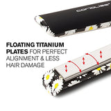 Corioliss C1 Professional Titanium Hair Styling Iron, Limited Edition Black Daisy, 2 Year Warranty, 1 Titanium Plates, Negative Ion, Anti-Static, Anti-Frizz, Heat Resistant Pouch Included