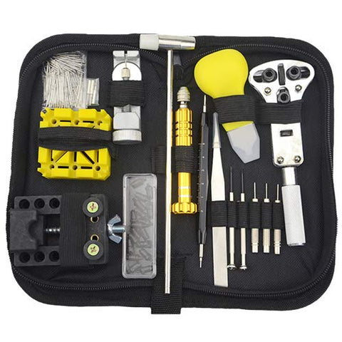 Xlx 140Pcs Watch Repair Kit Watch Battery Replacement Spring Bar Remover Watch Cap Opener Link Pin Disassemblingtool Assortment Kit With A Convenient Carry Bag