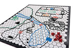 Hexers Role Playing Game Board: Vinyl Mat Alternative - Dungeons And Dragons D&Amp;D Dnd Pathfinder Rpg Play Compatible - 27''X23'' - 1'' Squares On One Side, 1'' Hexes On The Other - Foldable &Amp; Dry Erase