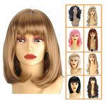 Gex Women'S Synthetic Wig Straight Bob Kanekalon Girls Fiber Full Wigs Like Real Human Hair For Daily Party 27-101 12