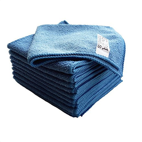 Goza Towels Microfiber Towel Cleaning Cloths Professional Grade All-Purpose 16 X16  (Blue, 12 Pack)