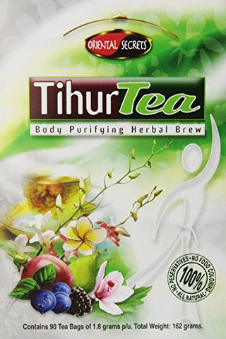 Tihur Tea - Body Purifying Herbal Brew 90 Tea Bagsof 1.8 Grams P/U. Total Weight: 162 Grams