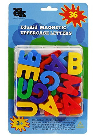 Edukid Toys Abc Capital Magnets - 36 Uppercase Alphabet Magnetic Letters