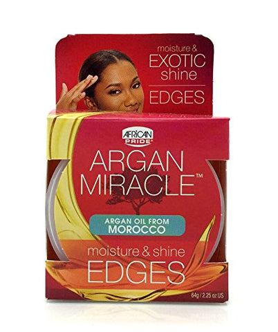 African Pride Argan Miracle Edges, 2.25 Ounce