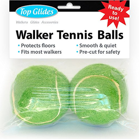 Top Glides Precut Walker Tennis Ball Glides (Green)