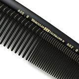 Hercules Sgemann Masterpiece Compact Styling Hair Comb With Coarse Teeth 8  | Seamless - Perfection In Design And Function - Professional - Hard Rubber (Ebonite) - Made In Germany