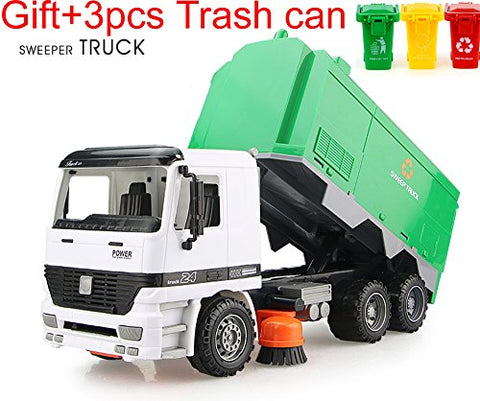 Aiting Children Street Sweeper Truck + Gift3Pcs Trash Can