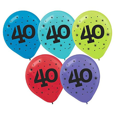 40  Printed Latex Balloons, Party Favor