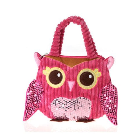 Girly Pink Owl Hand Bag 10  By Fiesta