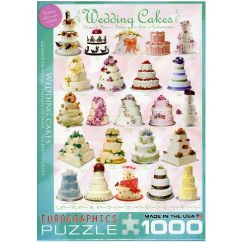 Eurographics Wedding Cakes 1000-Piece Puzzle