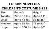 Forum Novelties Designer Collection Deluxe Victorian Rose Costume Dress, Child Large