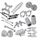 Mxfans Silver Aluminum Alloy Accessories Upgrade Parts Rc 1:10 Axial Yeti Rock Racer 90026 Racing Climbing Rock Crawler