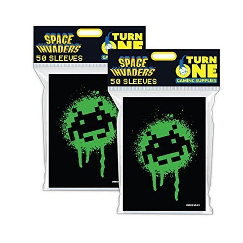 Space Invaders Graffiti Card Sleeves 50Ct (2 Packs)
