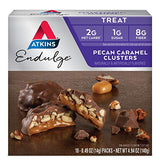 Atkins Pecan Caramel Clusters. Rich And Decadent Treats With Chocolate, Caramel, &Amp; Pecans. (10 Clusters Per Box)