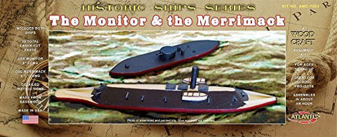 Battle Of The Ironclads Monitor And Merrimack Wooden Ship Kit Atlantis Toy And Hobby