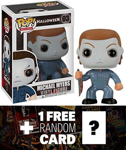 Funko Michael Myers Pop! Horror Movies X Halloween Vinyl Figure + 1 Free Classic Sci-Fi &Amp; Horror Movies Trading Card Bundle [22963]