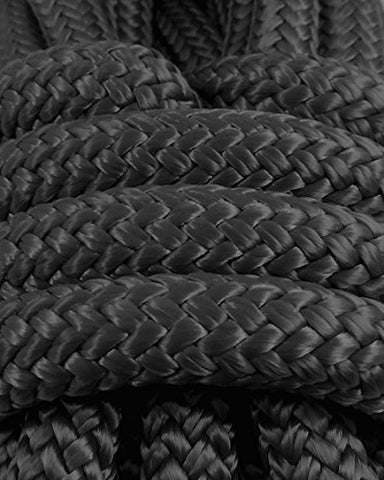 3/8 In X 100 Ft Black Polyester Double Braided Rope