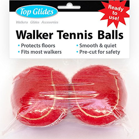 Top Glides Precut Walker Tennis Ball Glides (Red)