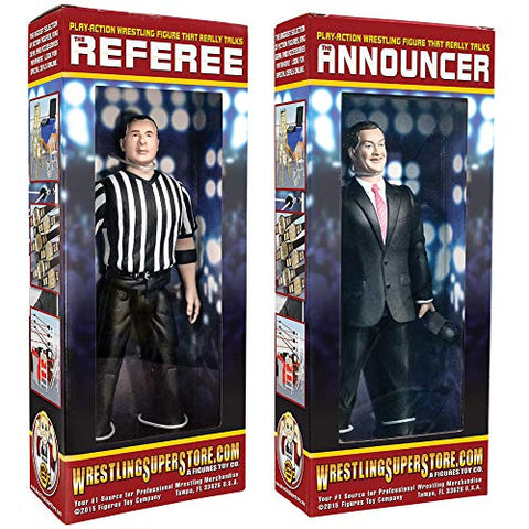 Special Deal: Talking Referee &Amp; Ring Announcer Wrestling Figures