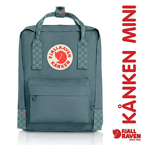 Fjallraven - Kanken Mini Classic Backpack For Everyday, Frost Green-Chess Pattern
