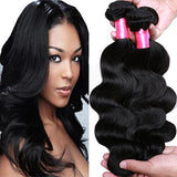Cranberry Hair Brazilian Virgin Hair Body Wave Remy Human Hair 3Bundles Weaves 100% Unprocessed Hair Extensions Natural Black Color 18 20 22Inch