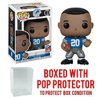 Nfl Legends Barry Sanders Lions Home Pop! Vinyl Figure And (Bundled With Pop Box Protector Case)