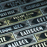 The Metal Foundry Toilet Metal Door Sign. Art Deco Style Home Dcor Accessories Door Or Wall Aluminium Plaque. Handmade In England.