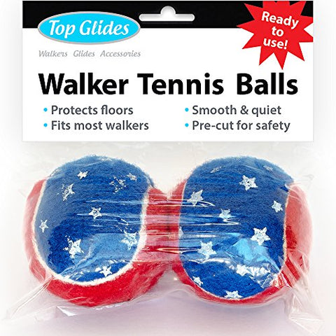 Top Glides Precut Walker Tennis Ball Glides (Patriotic)