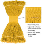 Bonison 16 Oz Cotton Easy Wring Saddle Mop Head Refill, Heavy Duty Looped-End String Swinger Style Replacement Mop Head, For Home, Commercial, And Industrial Use (Yellow, 16 Oz)