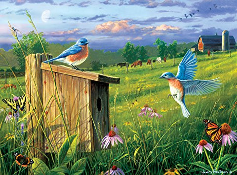 Buffalo Games - Hautman Brothers - Nesting Bluebirds - 1000 Piece Jigsaw Puzzle