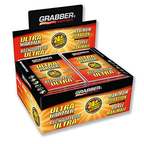 Grabber Ultra Warmers - Long Lasting Safe Natural Odorless Air Activated Warmers - Up To 24 Hours Of Heat - 30 Count