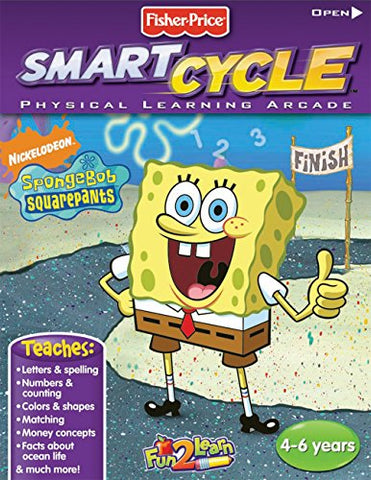 Fisher-Price Smart Cycle [Old Version] Spongebob Ocean Adventure Software Cartridge