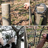 Pocket Chainsaw With Paracord Handle 24 Inches 11 Teeth Folding Chain Hand Saw Fast Wood &Amp; Tree Cutting Emergency Survival Gear Best For Camping Backpacking Hiking Hunting