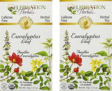 Celebration Herbals Organic Eucalyptus Leaf Tea Caffeine Free -- 48 Herbal Tea Bags
