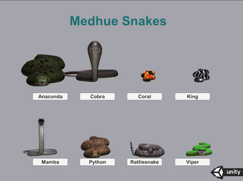 Medhue Snakes for Unity3D | Medhue Animations