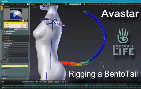 Rigging a Bento Tail for Second Life - Tutorial