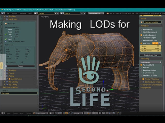 How to Make LODs for Second Life - Tutorial | Medhue