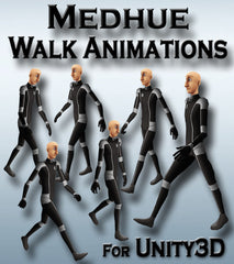 Medhue Walk Animations for Unity3D