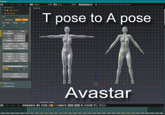 Tpose to Apose & Back in Avastar - Tutorial