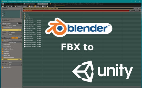 Export Blender FBX to Unity3D - Tutorial