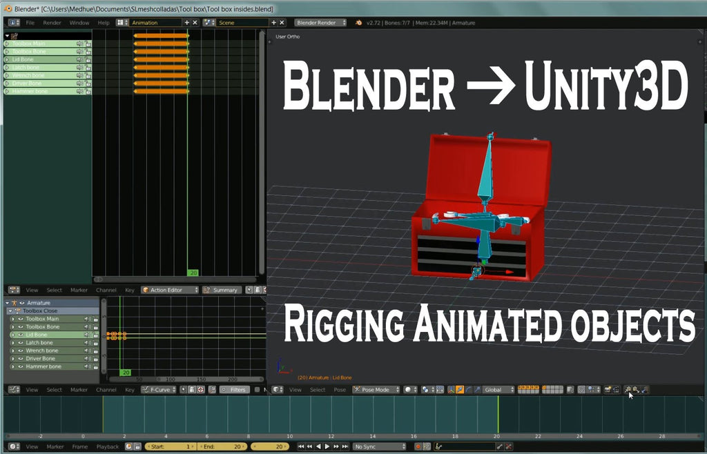 Blender to Unity3D - Rigging Animated Objects - Tutorial | Medhue