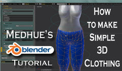 How to make Simple 3D clothing for Secondlife - Tutorial