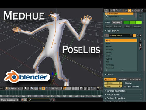 Blender Pose Libraries - Tutorial