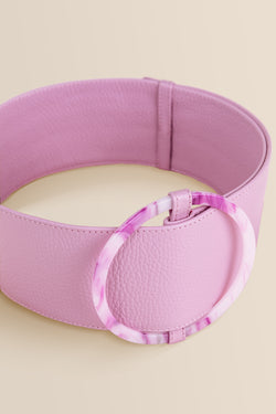 Bamboleo Leather Belt - Lavender