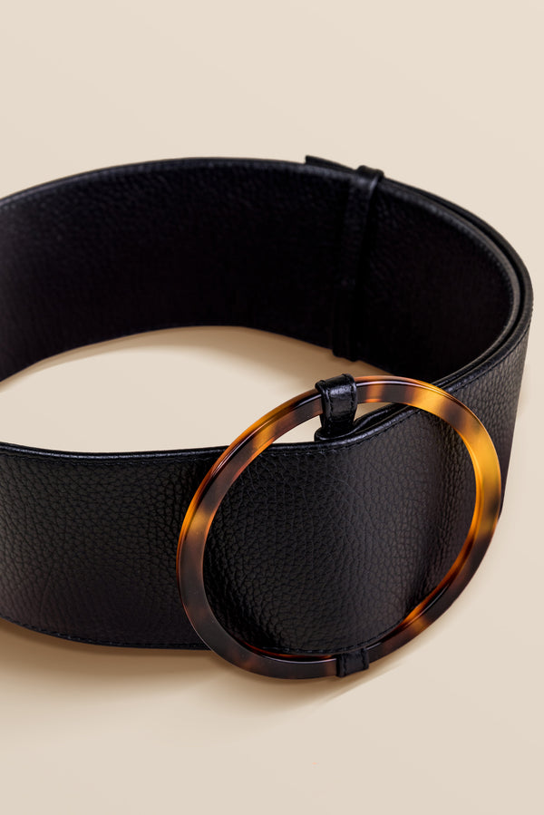Bamboleo Leather Belt - Black