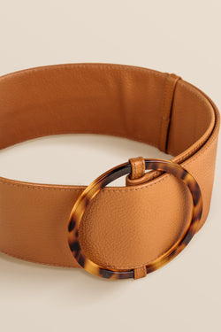 Bamboleo Leather Belt - Camel