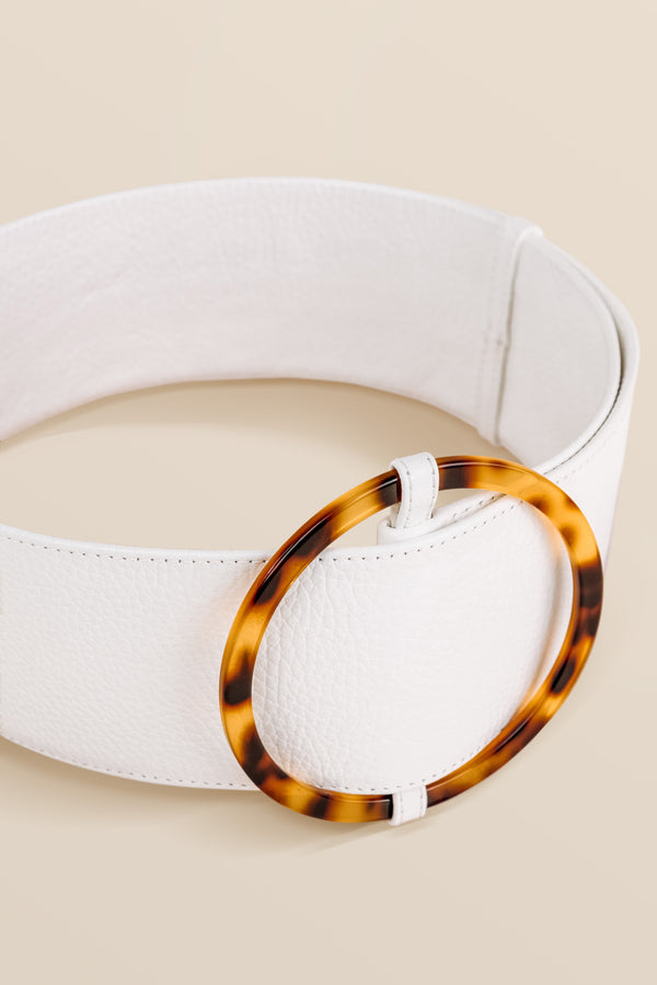 Bamboleo Leather Belt - Latte