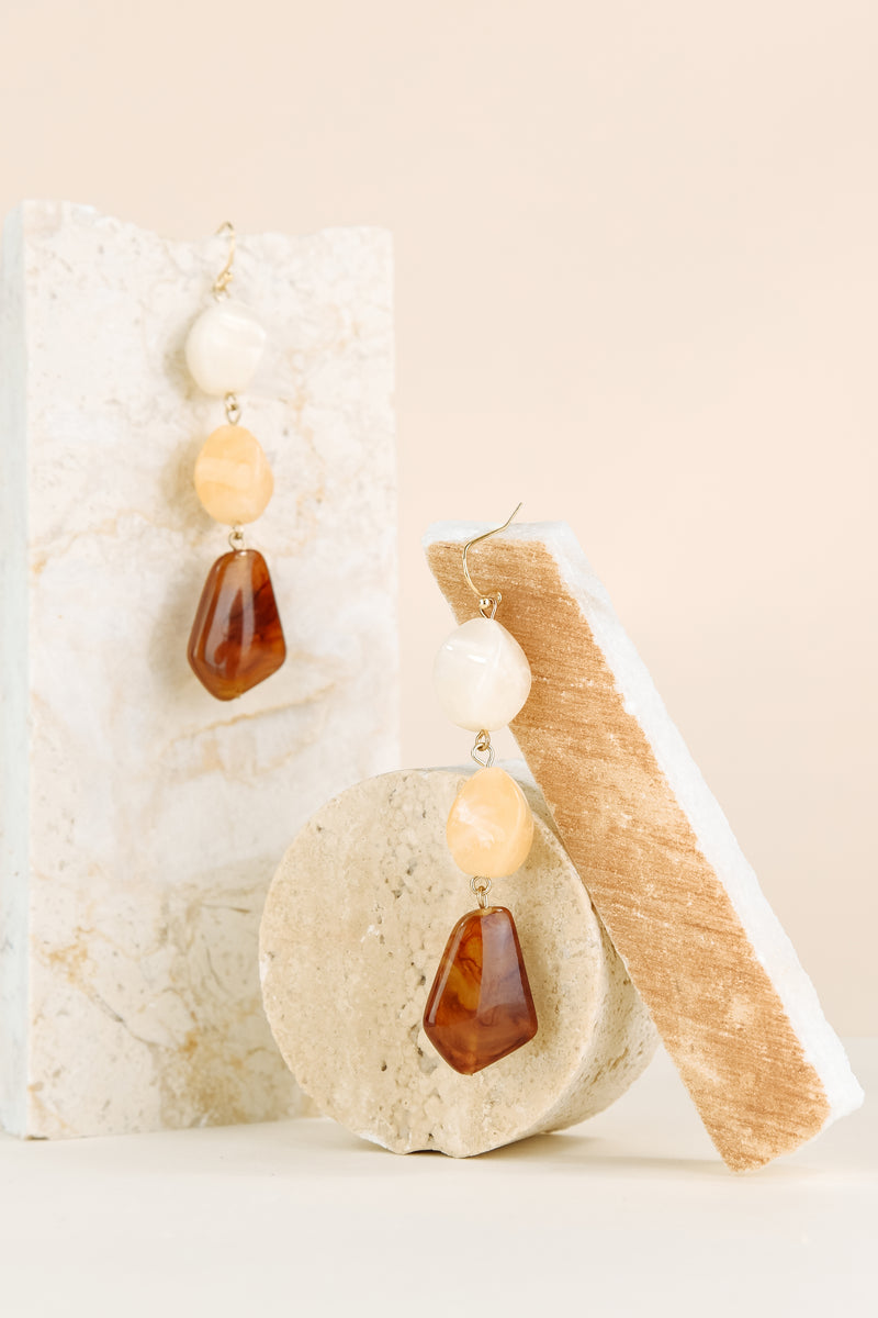 Emma Earring - Multi Yellow Quartz